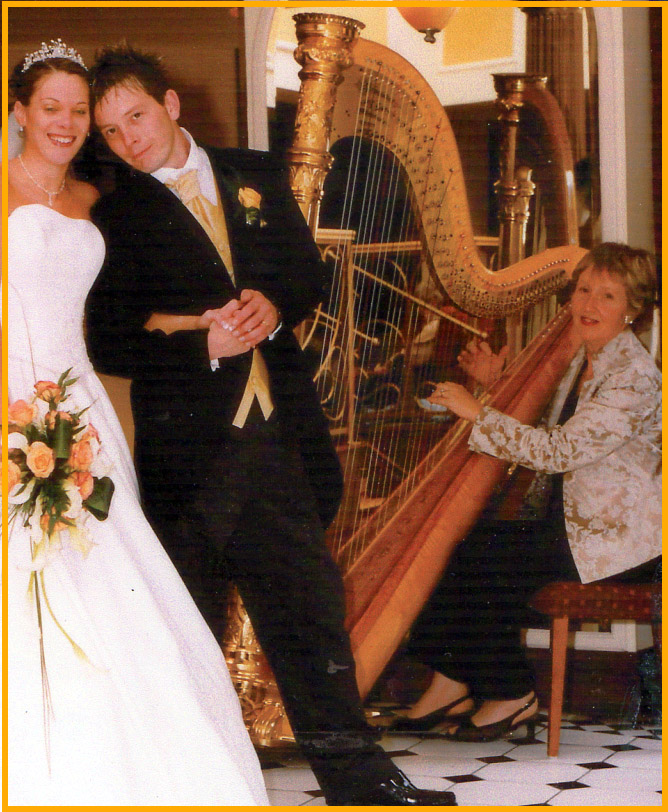Harpist for weddings in North Wales, Cheshire, Merseyside, Shropshire, Chester, Llandudno, St. Asaph, Colwyn bay and Wrexham