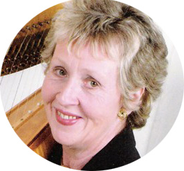 Ceinwen Roberts, harpist for North Wales, Cheshire and the Wirral