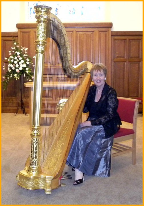 Wedding harpist for weddings in North Wales, Cheshire, Merseyside, Shropshire, Chester, Llandudno, St. Asaph, Colwyn bay and Wrexham